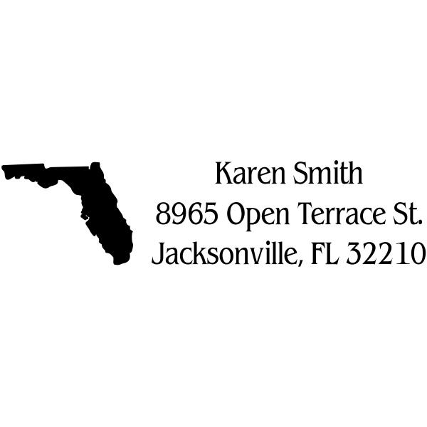 Florida Return Address Stamp