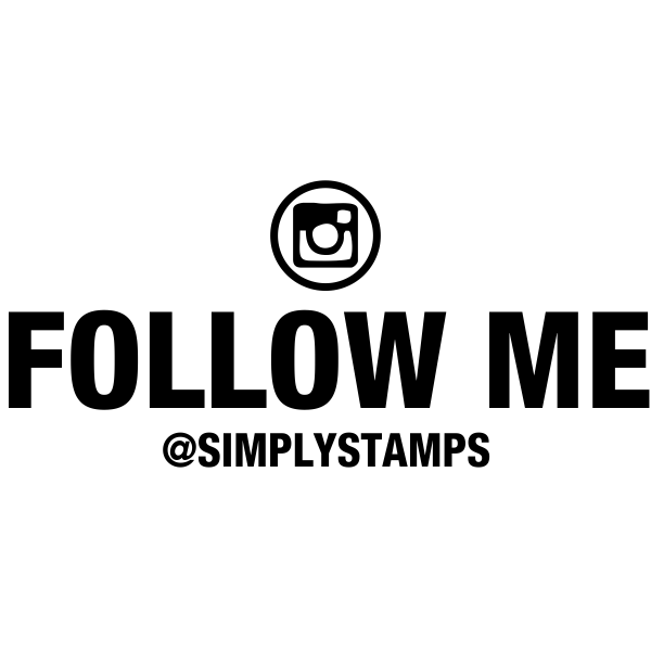 Follow Me On Instagram Handle Stamp