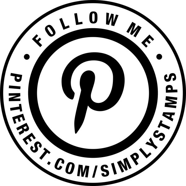 Follow Me On Pinterest URL Round Stamp