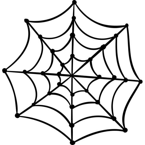 "Spooky Spider Web Halloween Craft Stamp | 2"" x 2"""