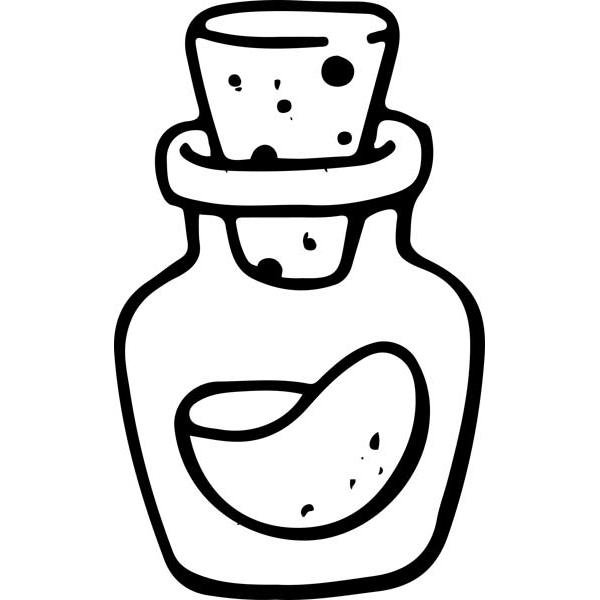 "Potion Bottle Halloween Craft Stamp | 2"" x 2"""
