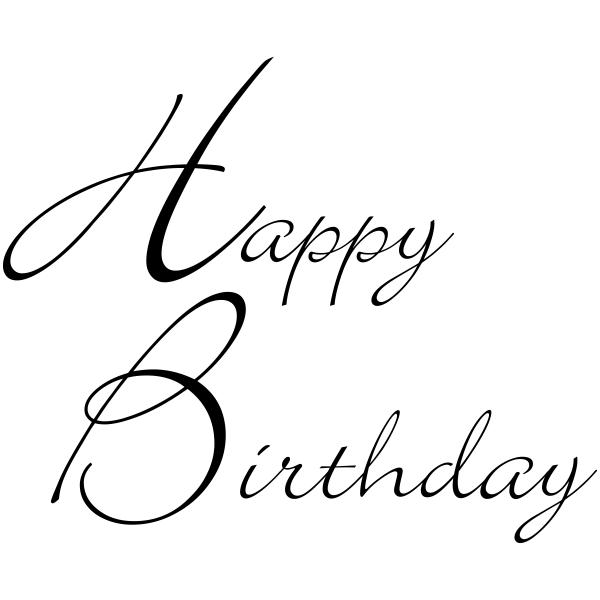 Happy Birthday Craft Stamp