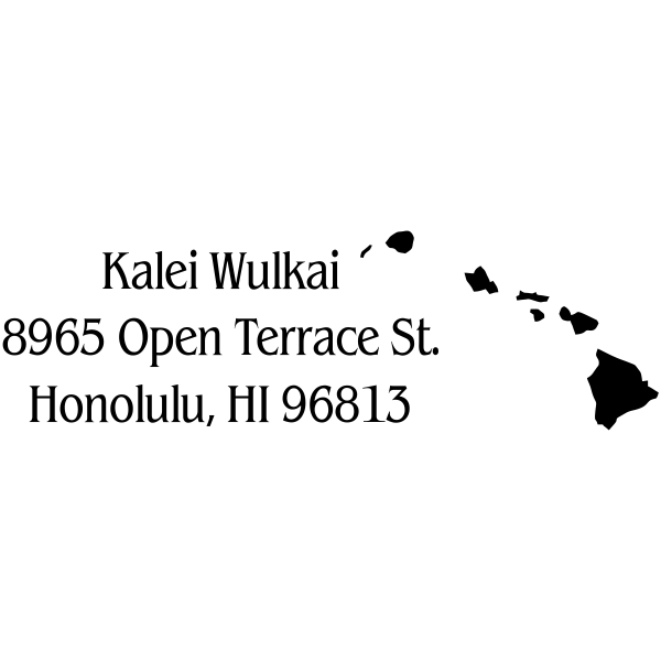 Hawaii Return Address Stamp