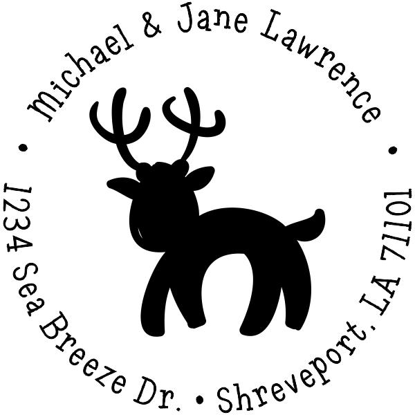 Lawrence Reindeer Return Address Stamp