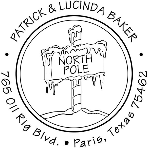 North Pole Return Address Stamp