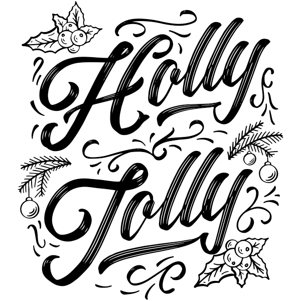 """Holly Jolly Craft Stamp   2"""" x 2"""""""