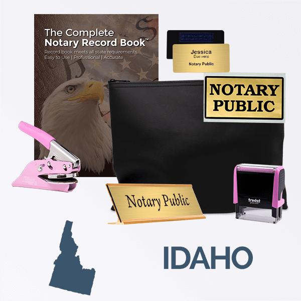 Idaho Pink Deluxe Notary Kit