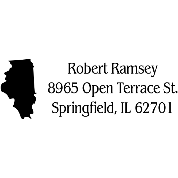 Illinois Return Address Stamp