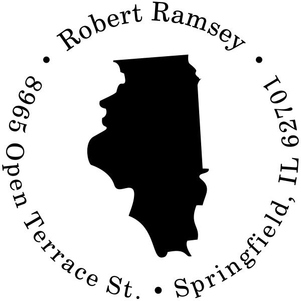 Illinois Round Address Stamp
