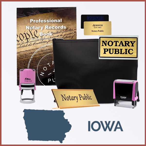 Iowa Pink Deluxe Notary Kit