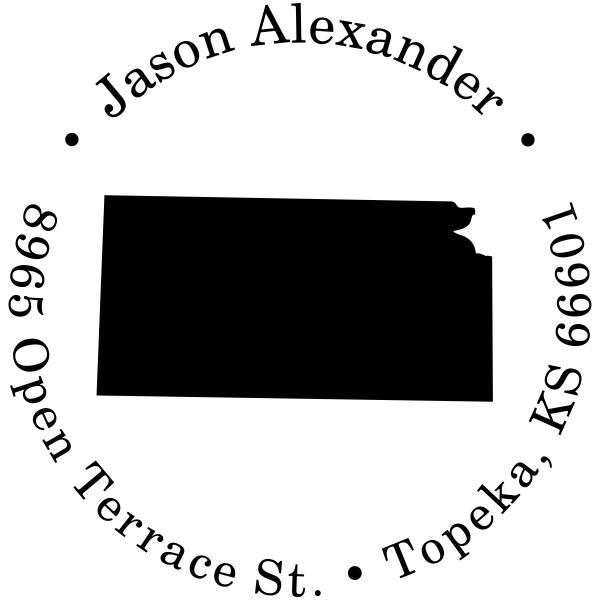 Kansas Round Address Stamp