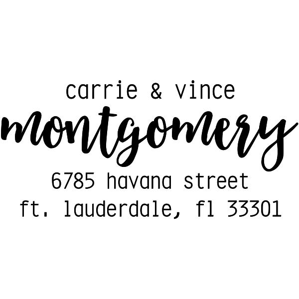 Montgomery Trendy Address Stamp