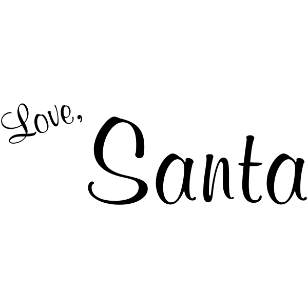 Love, Santa Present Rubber Stamp