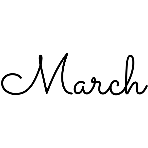 March Journal Stamp