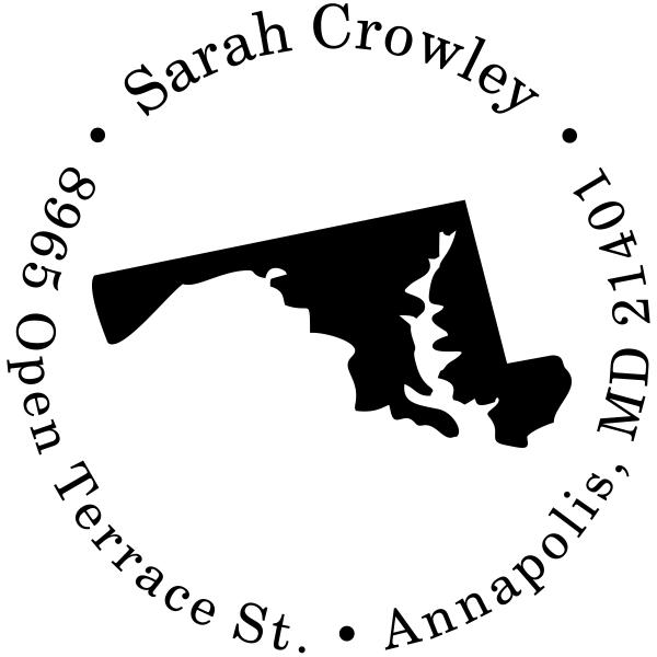 Maryland Round Address Stamp