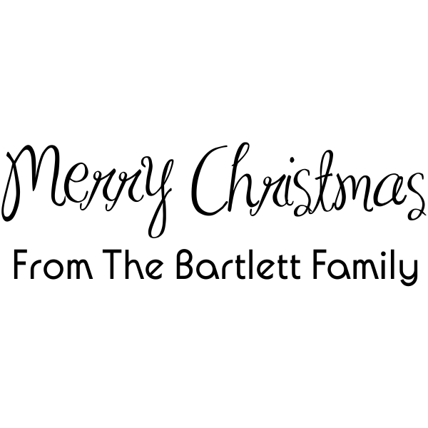 Merry Christmas Family Rubber Stamp