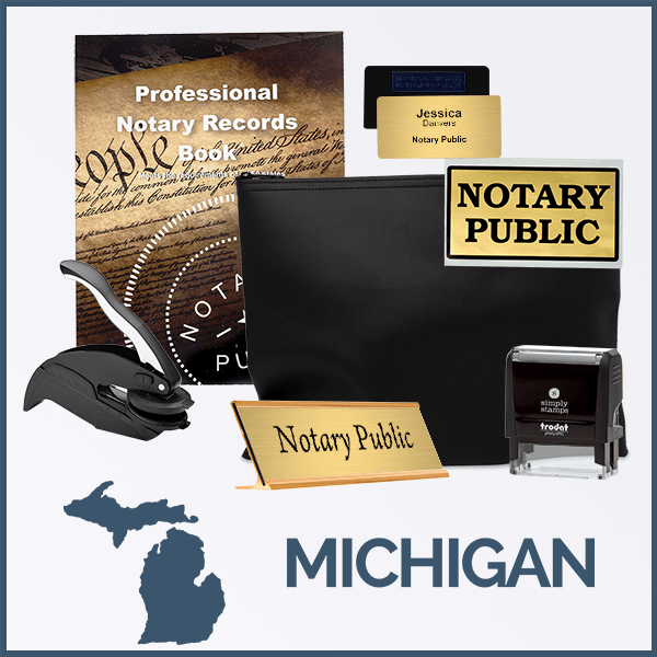 Michigan Deluxe Notary Kit