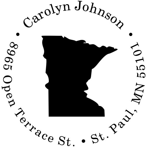 Minnesota Round Address Stamp