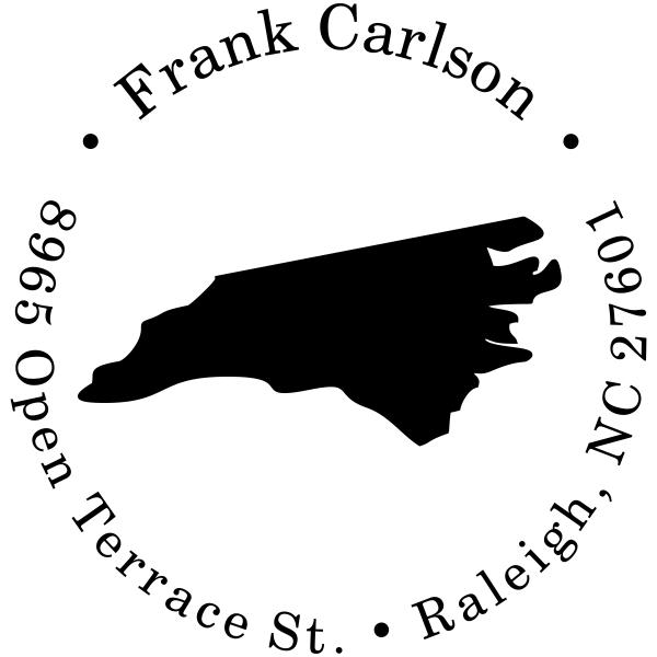North Carolina Round Address Stamp