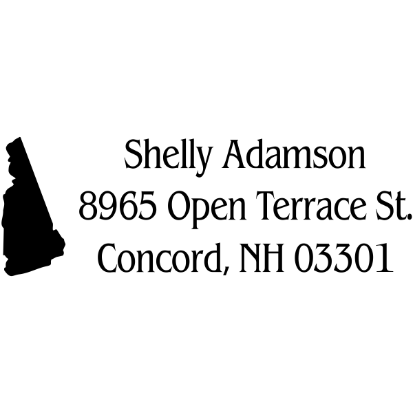 New Hampshire Return Address Stamp
