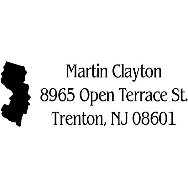 New Jersey Return Address Stamp