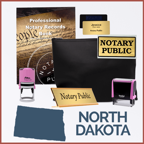 North Dakota Pink Deluxe Notary Kit