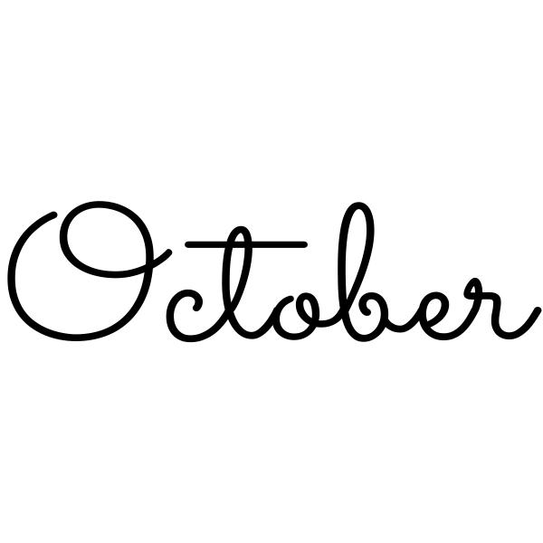 October Journal Stamp