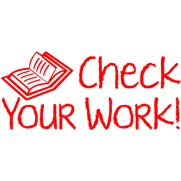 Open Book Check Your Work! Teacher Stamp