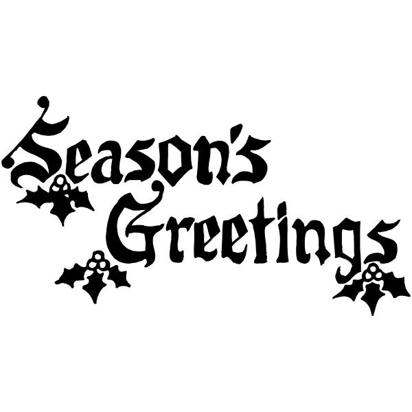 Ornate Seasons Greetings Stamp