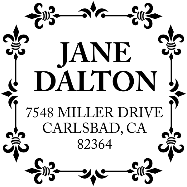 Alana Square Address Stamp