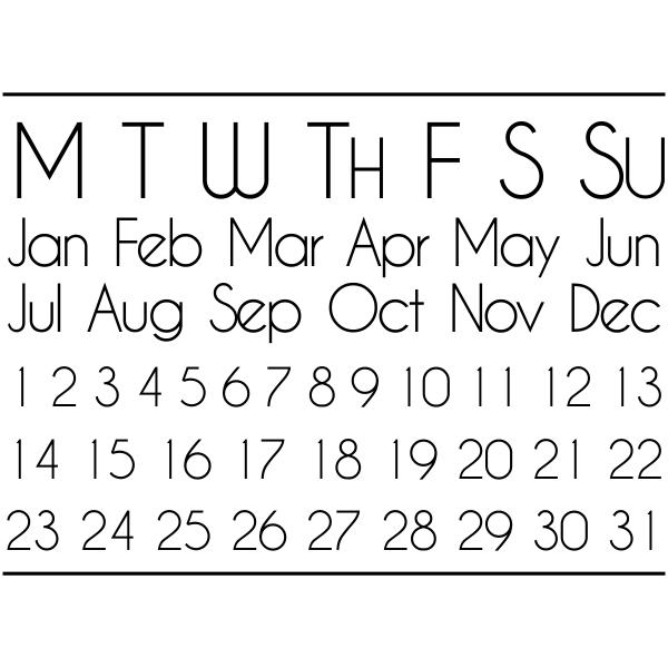 Perpetual Calendar Journal Stamp