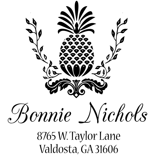 Nichols Pineapple Address Stamp