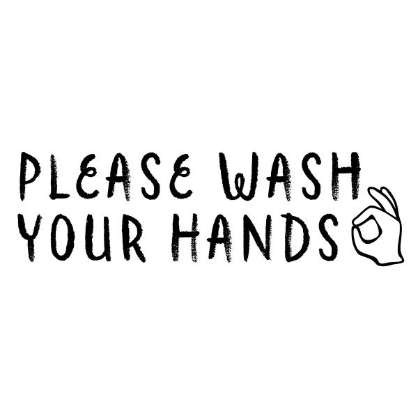 Please Wash Your Hands Teacher Stamp