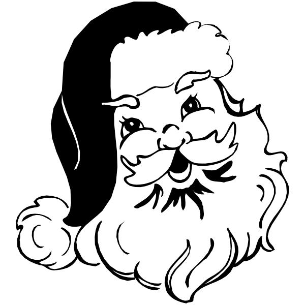 Santa Head Stamp