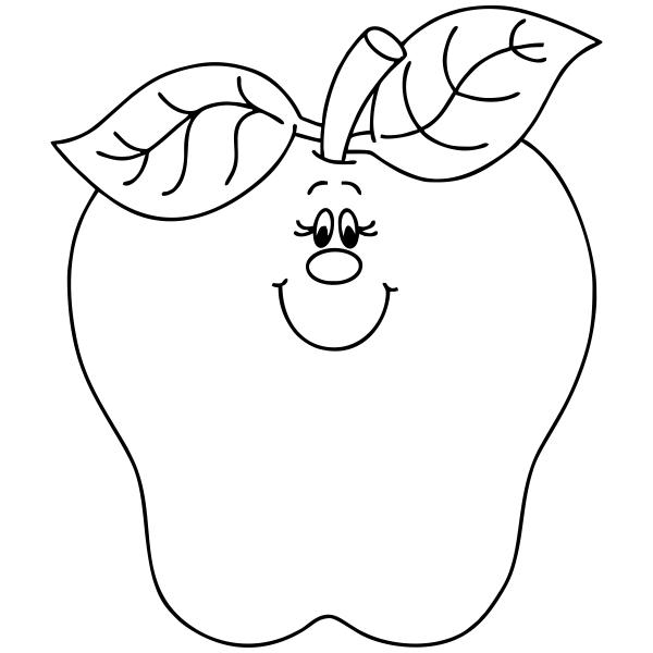 Happy Apple Teacher Craft Stamp