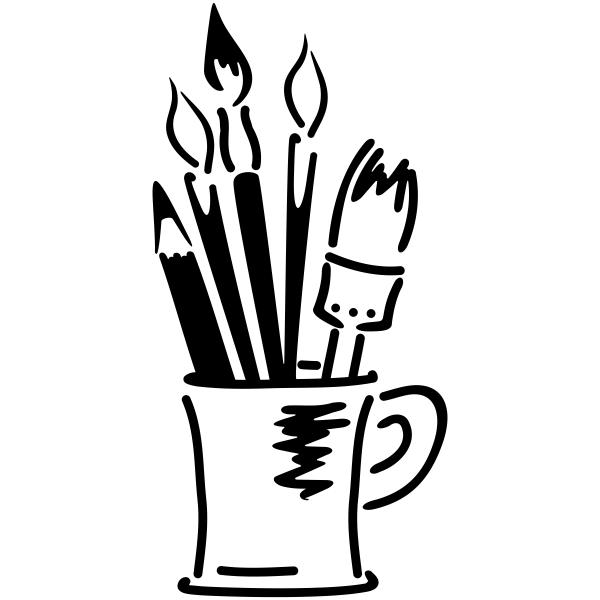 Art Brushes Teacher Craft Stamp