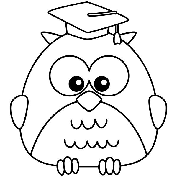 Owl Graduate Teacher Craft Stamp