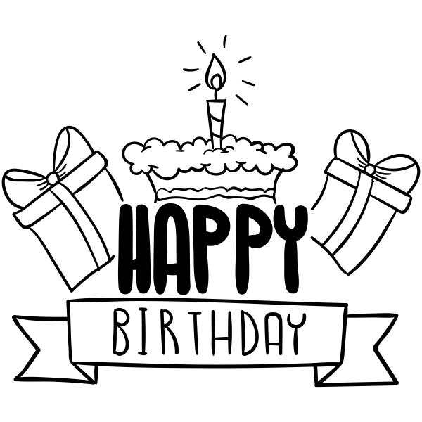 Happy Birthday Presents Craft Stamp