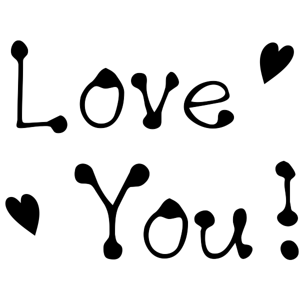 Love You! Craft Stamp