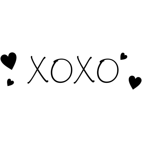 XOXO Love Craft Stamp