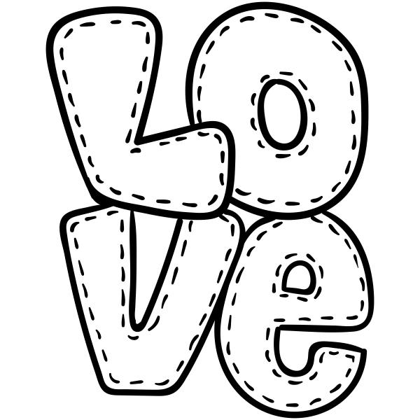 Stitched Love Craft Stamp