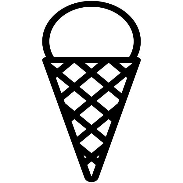 Ice Cream Cone Craft Stamp