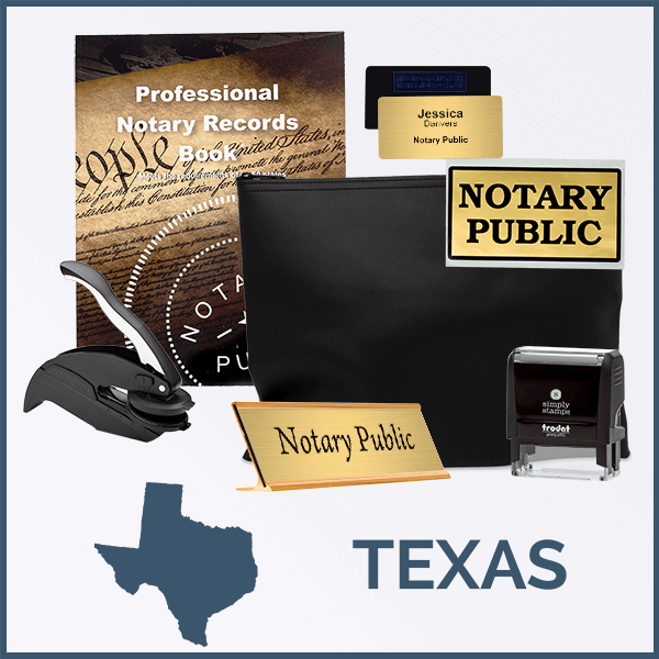 Texas Deluxe Notary Kit