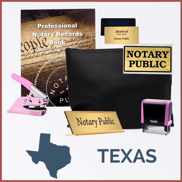Texas Pink Deluxe Notary Kit