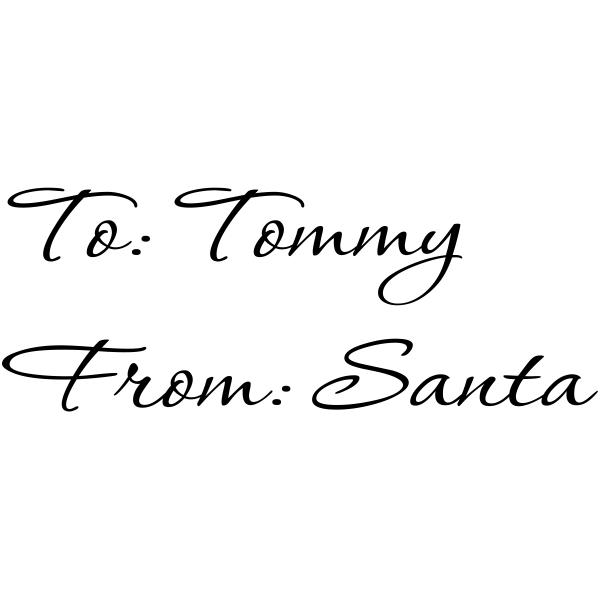 Custom Child From Santa Signature Stamp