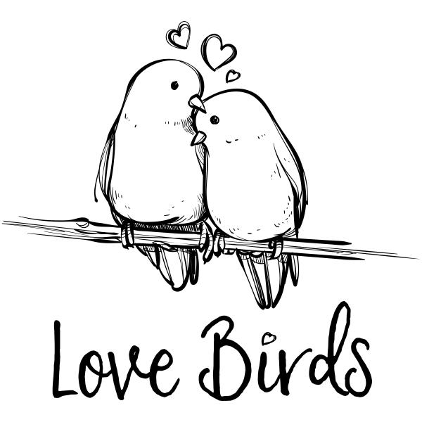 Love Birds Craft Stamp