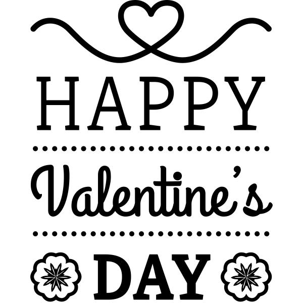 Happy Valentines Day Flower Craft Stamp