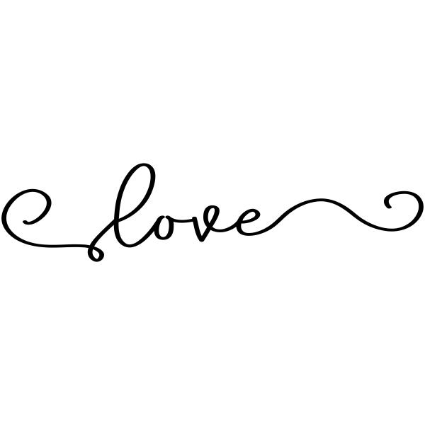 Love Swirl Craft Stamp