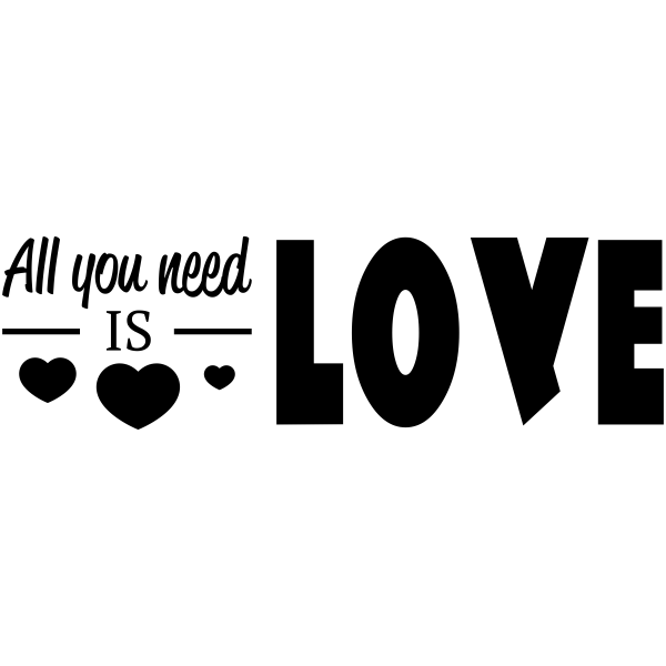 All You Need is Love Craft Stamp