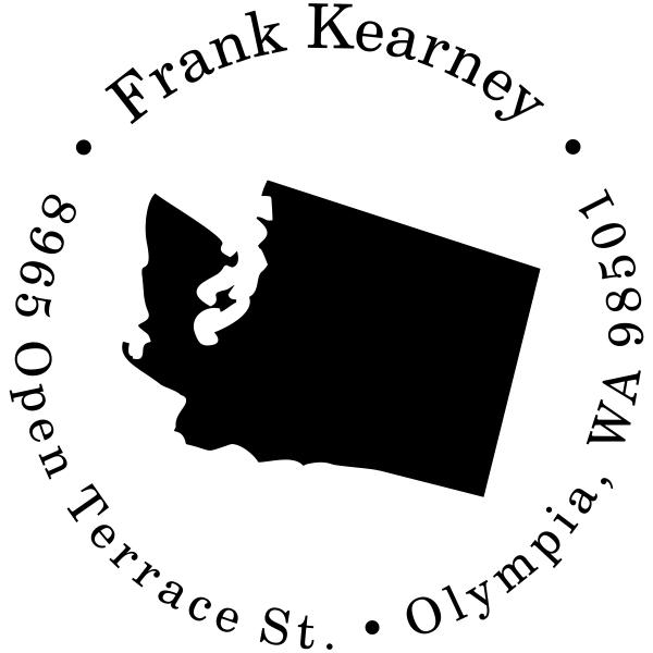 Washington Round Address Stamp